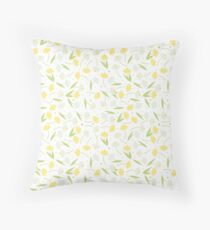Narcissus and Snowdrops Throw Pillow