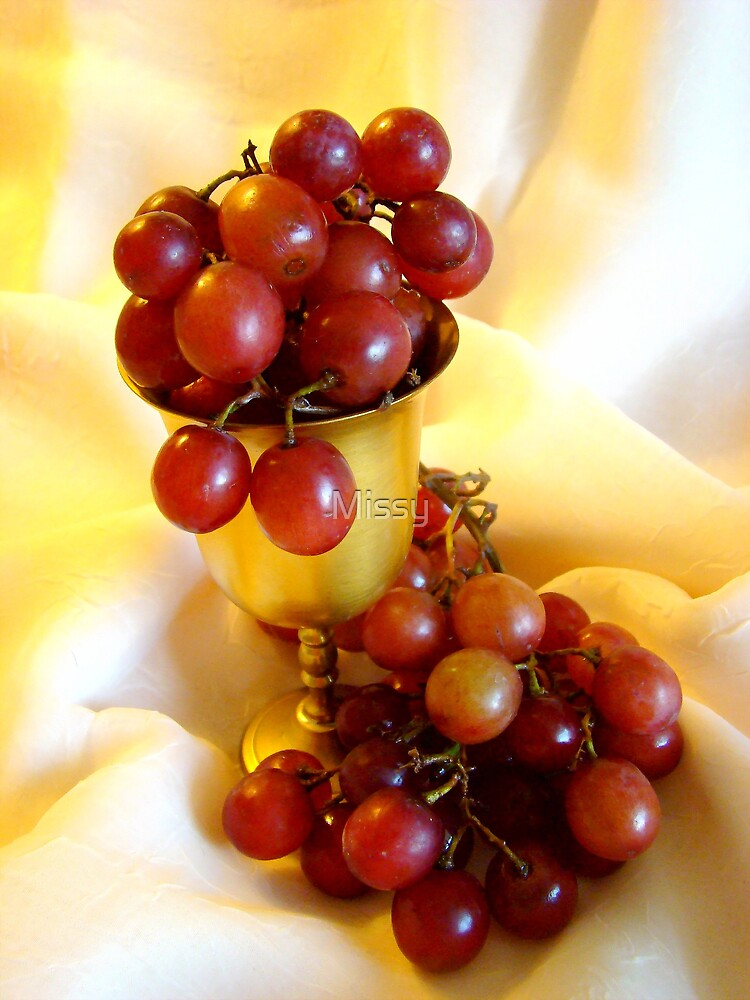 Grapes in a cup by Missy