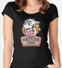 Sweater Cows Women's Fitted Scoop T-Shirt
