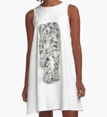 Clouded Leopard A-Line Dress