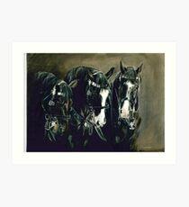 Three Cavalry Blacks Art Print