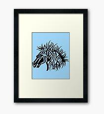 Tribal Horse Cool Vector Art Framed Print