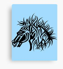 Tribal Horse Cool Vector Art Canvas Print