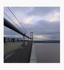 Walking the Humber Bridge Photographic Print