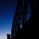 Rail Bridge on Dusk by John Barratt