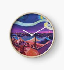 Starry Night in Marrakech Van Gogh Inspirations  Clock