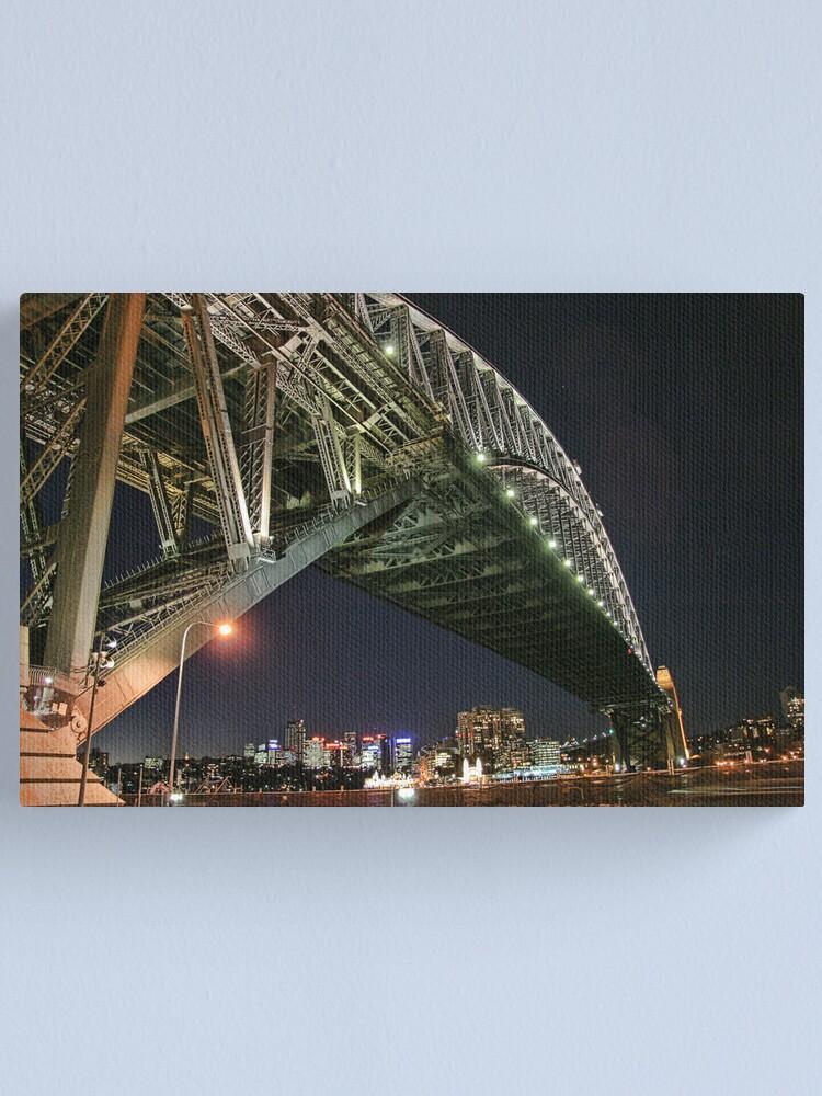 Alternate view of Sydney Series - Under the bridge Canvas Print