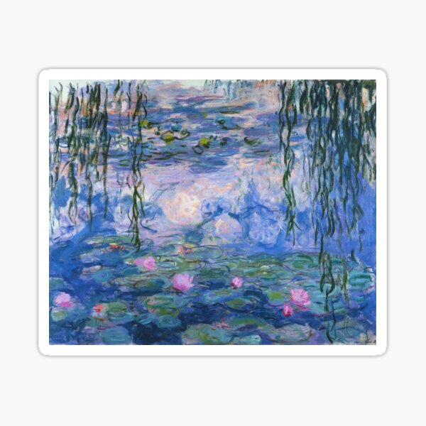Claude Monet - Water Lilies Sticker