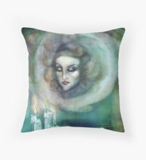 Let There Be Music - Madame Leota Haunted Mansion Art Throw Pillow