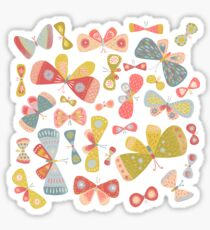 Butterfly Tango on White Sticker