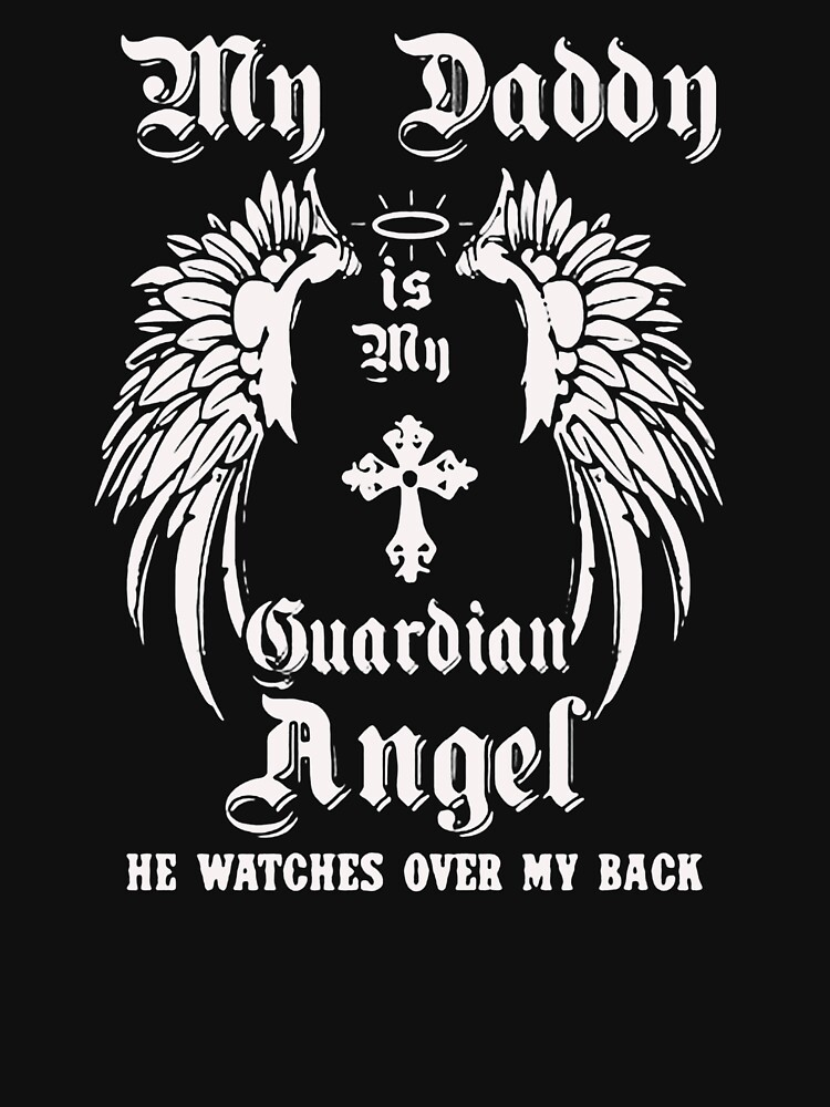Guardian angel he watches over my back by JeffreyFenner