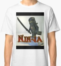 Black Ninja Custom Minifigure Classic T-Shirt