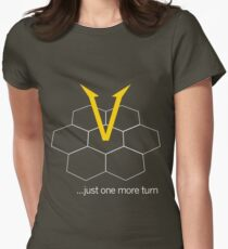 Just one more turn...(dark) Womens Fitted T-Shirt