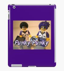 Funky Punky DJ Clubbing Tru & his Dad Disco Stu (with CD and Record)  iPad Case/Skin