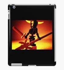 Black Skeleton Viking Helmet and Warrior Weapons iPad Case/Skin