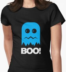 Boo Ghost Womens Fitted T-Shirt