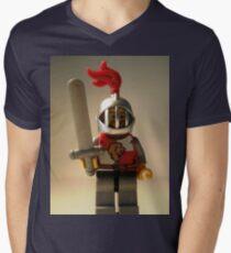 'Lion Knight Quarters' Minifig Men's V-Neck T-Shirt