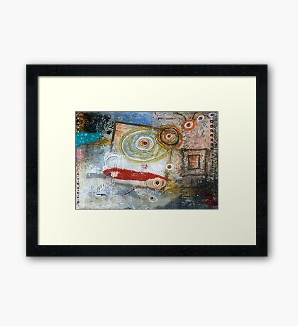 Square Peg, Round Hole Framed Print