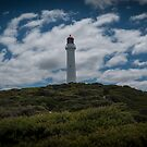 Lighthouse on the Hill at Eastern View in Victoria, Australia by Anthony Carrick