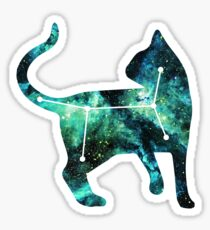 cat in the stars Sticker