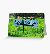 Rabbit Poo Greeting Card