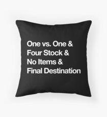 Super Smash Bros Pro Rules - Helvetica  Throw Pillow