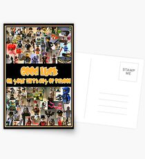 Good Luck on your First Day of School Greeting Card a Montage of Custom Minifigs Postcards