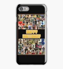 Happy Birthday Greeting Card, Montage of Custom Minifigs iPhone Case/Skin