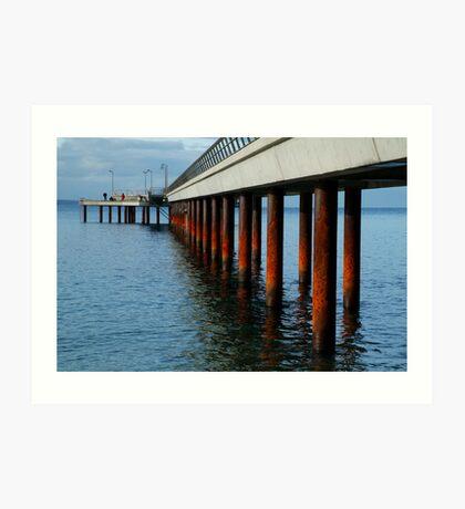 Rusty Pylons,Lorne Pier Art Print