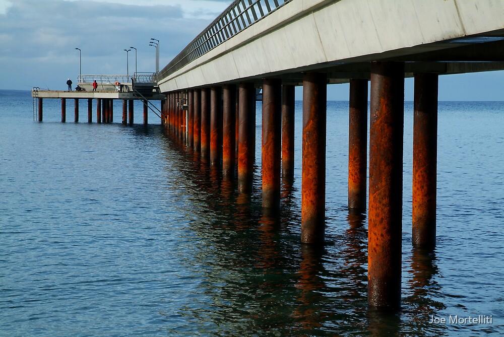 Rusty Pylons,Lorne Pier by Joe Mortelliti