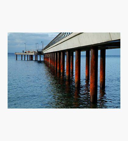 Rusty Pylons,Lorne Pier Photographic Print