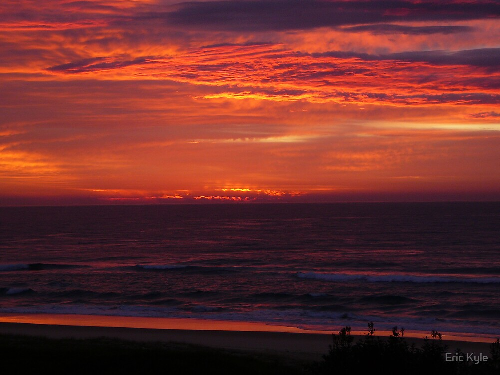 SUNRISE AT VALLA BEACH AUGUST 2ND. by Eric Kyle