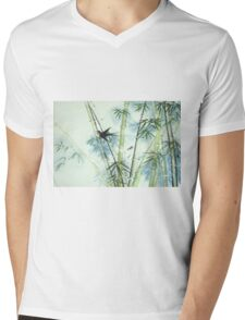 Bamboo Forest - green Mens V-Neck T-Shirt