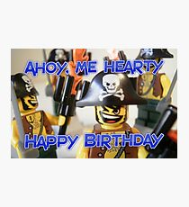 """Happy Birthday"" Pirate Captain Birthday Greeting Card Photographic Print"