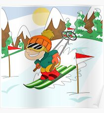 Winter Sports: Skiing Poster