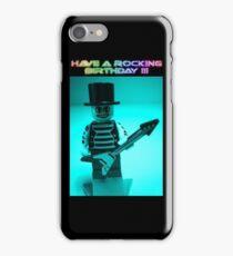 """Have a Rocking Birthday"" Custom Emo Guitarist Birthday Greeting Card iPhone Case/Skin"