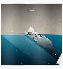 The lonely Narwhal Poster