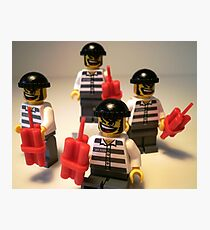 Convict Prisoner City Minifigure with Dynamite Sticks Photographic Print