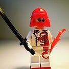 Red Dragon Japanese Samurai Warrior Custom Minifig by Customize My Minifig