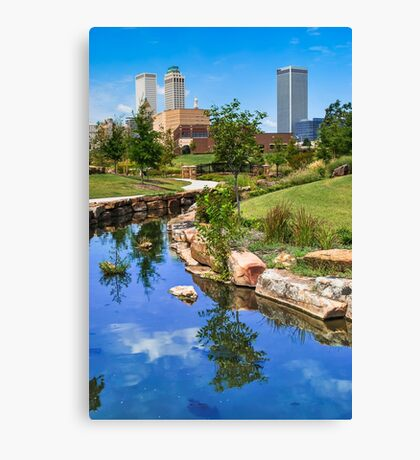 Downtown Tulsa Oklahoma Skyline. Ca. 2008 Canvas Print