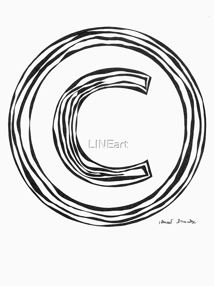LINEart T-shirt : COPYRIGHT by LINEart