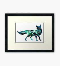 Fox in the Stars Framed Print