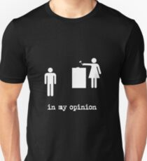 in my opinion Unisex T-Shirt