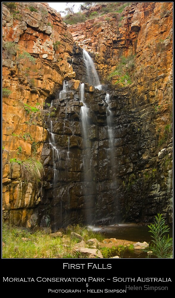 First Falls - Morialta Conservation Park - South Australia by Helen Simpson