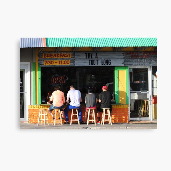 Feeding Time at the Lunch Counter Canvas Print