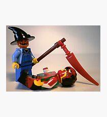 Scary Halloween Scarecrow Custom Minifigure Photographic Print