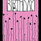 Pink Happy Birthday by Mariana Musa