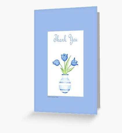 Blue Vase Thank you Greeting Card