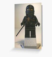 Black Ninja Custom Minifigure Greeting Card