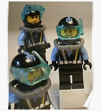 Diver 1 Minifigure Poster